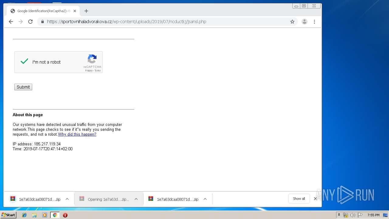 Screenshot of 847db0dbdc9aecdddac9527c542ad8941dc46653f1b50d22daa183656b267f1d taken from 59907 ms from task started