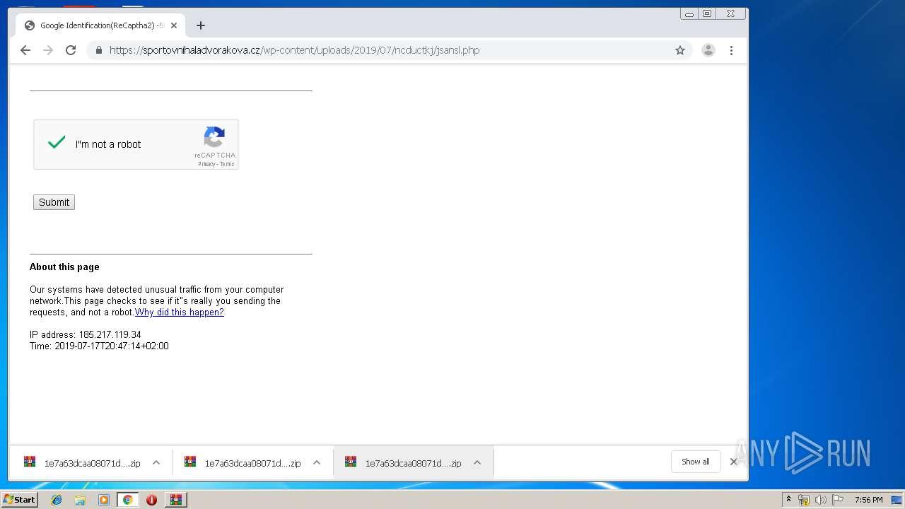 Screenshot of 847db0dbdc9aecdddac9527c542ad8941dc46653f1b50d22daa183656b267f1d taken from 108266 ms from task started