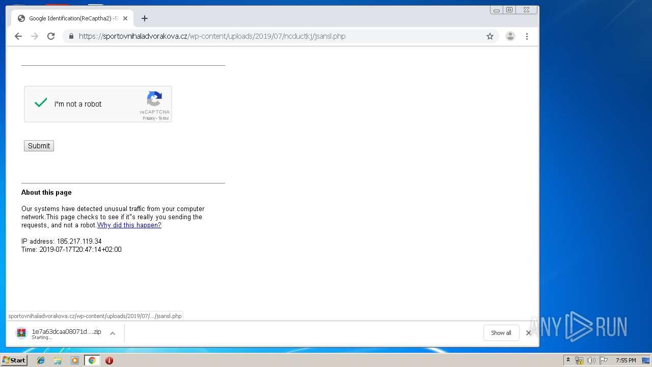 Screenshot of 847db0dbdc9aecdddac9527c542ad8941dc46653f1b50d22daa183656b267f1d taken from 50837 ms from task started