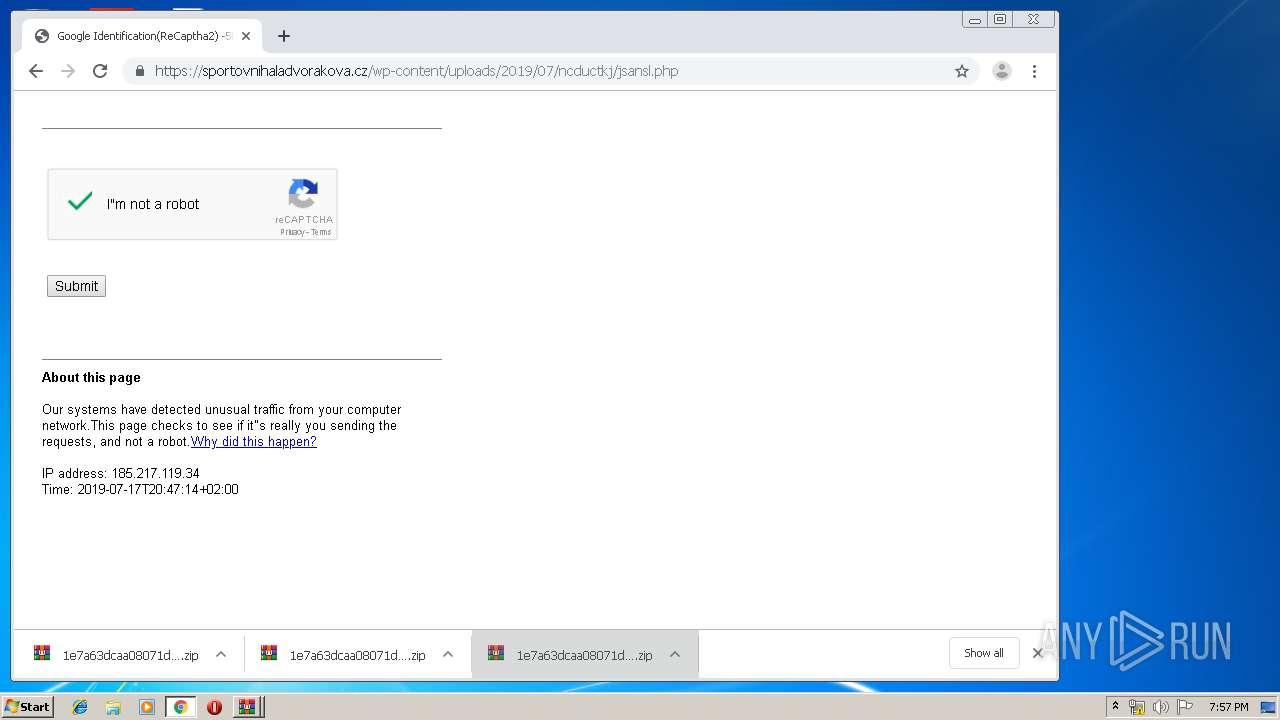 Screenshot of 847db0dbdc9aecdddac9527c542ad8941dc46653f1b50d22daa183656b267f1d taken from 138419 ms from task started