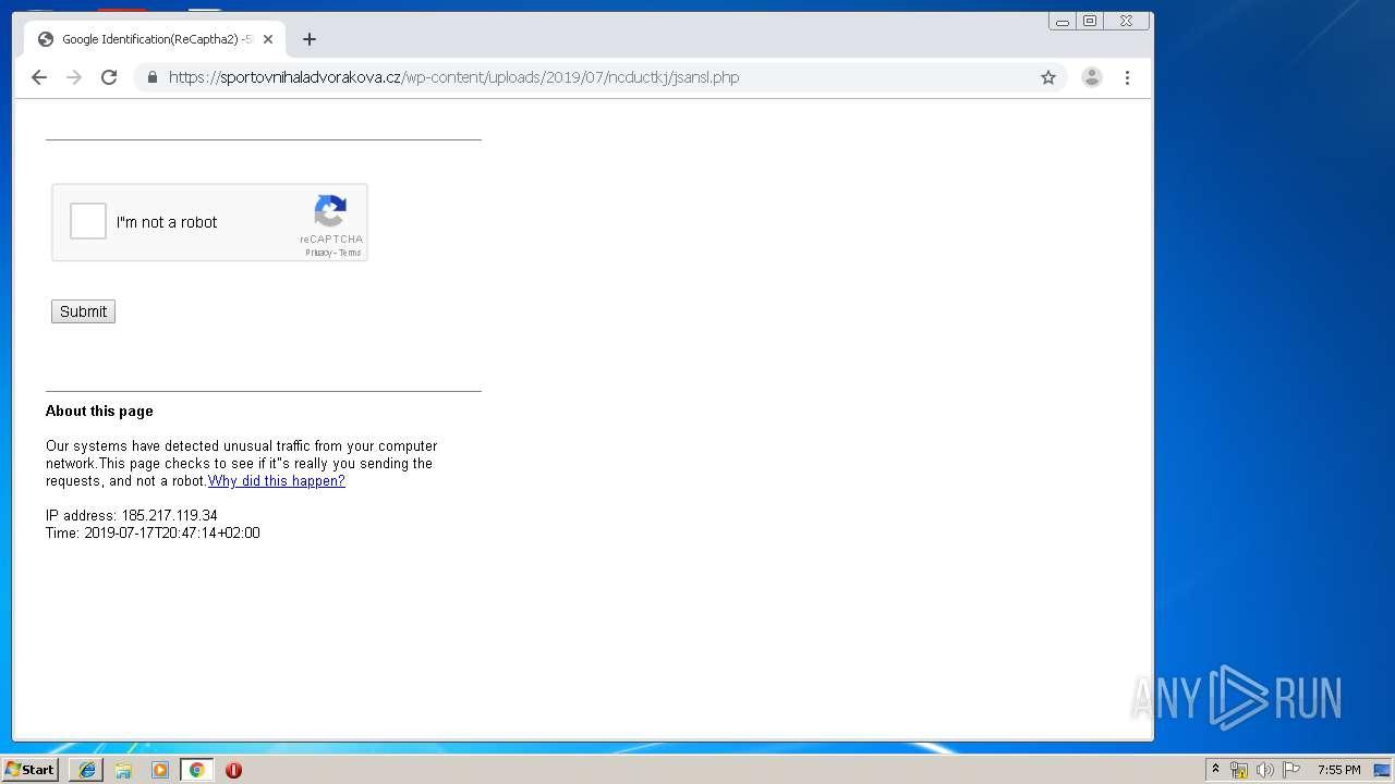 Screenshot of 847db0dbdc9aecdddac9527c542ad8941dc46653f1b50d22daa183656b267f1d taken from 40790 ms from task started