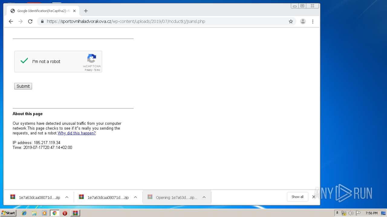 Screenshot of 847db0dbdc9aecdddac9527c542ad8941dc46653f1b50d22daa183656b267f1d taken from 110267 ms from task started