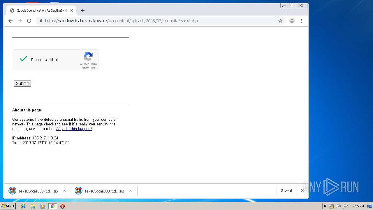 Screenshot of 847db0dbdc9aecdddac9527c542ad8941dc46653f1b50d22daa183656b267f1d taken from 53845 ms from task started