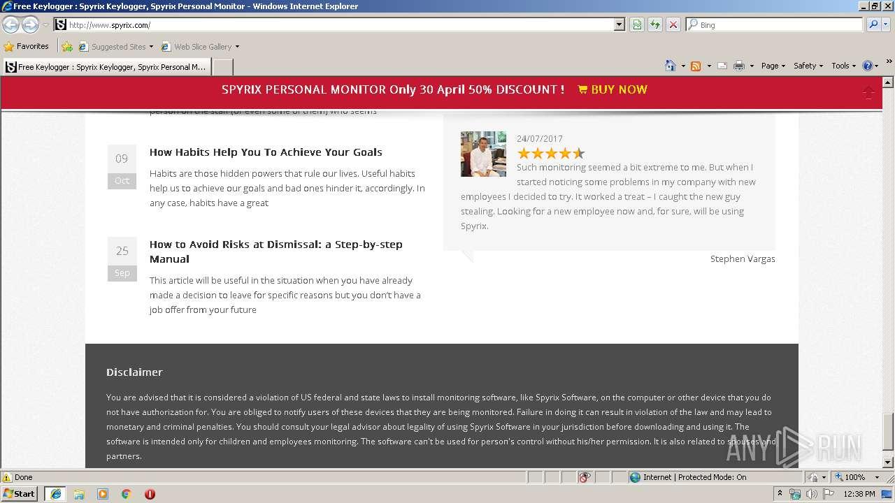 http://spyrix com | ANY RUN - Free Malware Sandbox Online