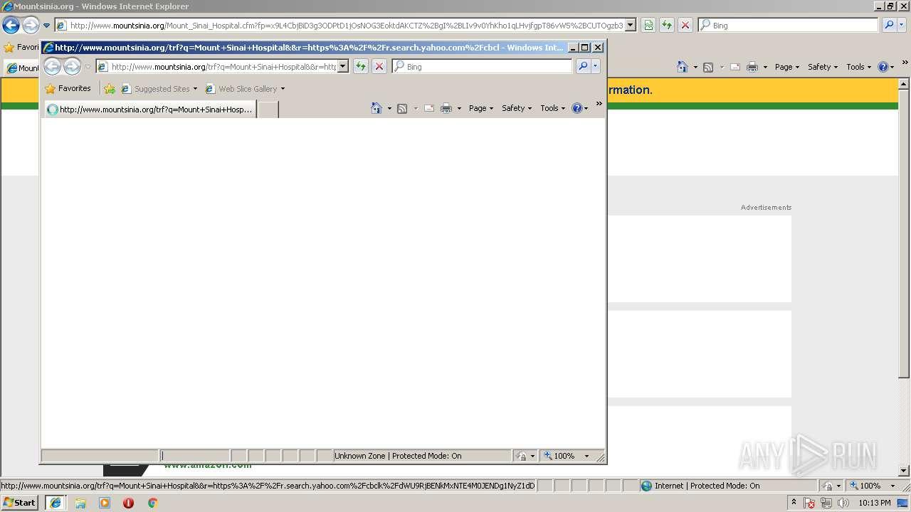 http://mychart mountsinia org | ANY RUN - Free Malware