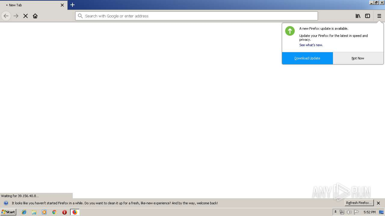 http://39 156 40 8/index php | ANY RUN - Free Malware