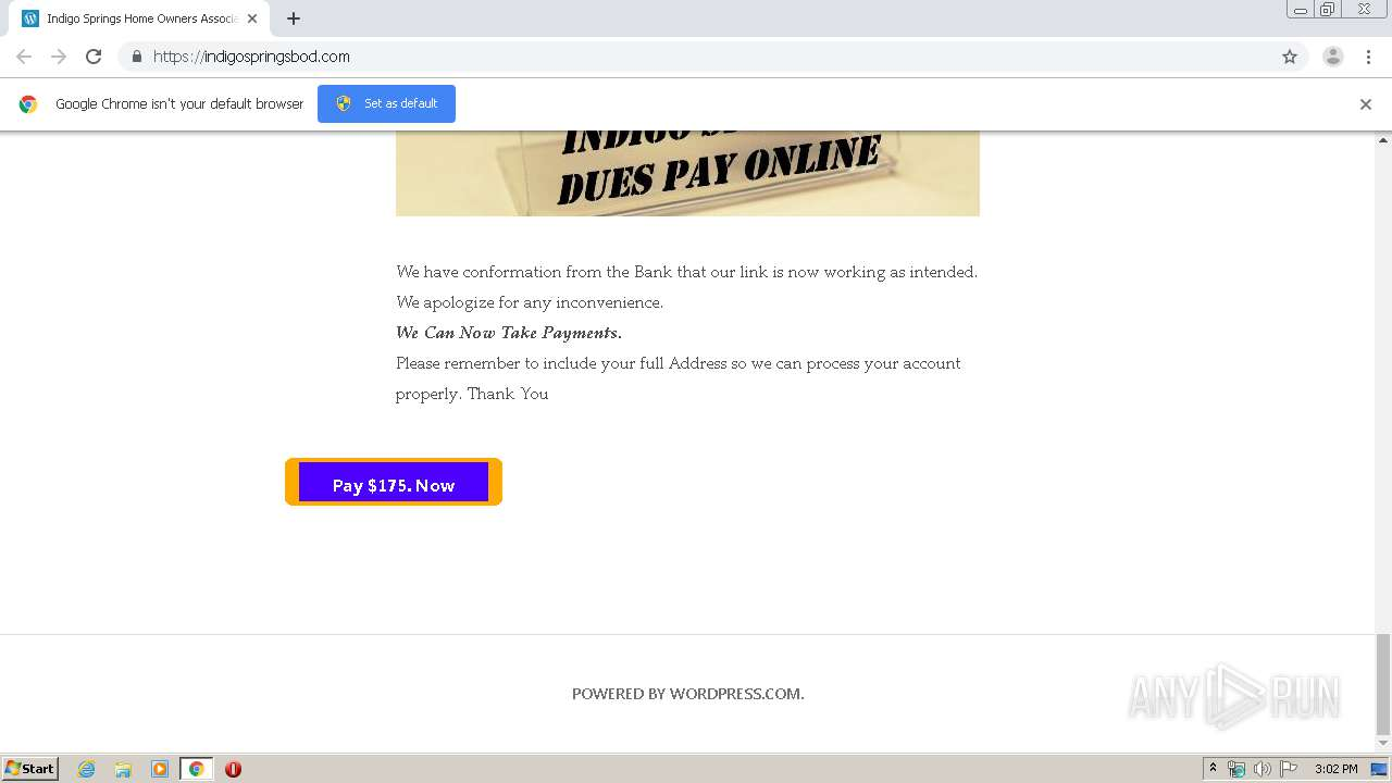 http://indigospringsbod.com | ANY.RUN - Free Malware Sandbox Online