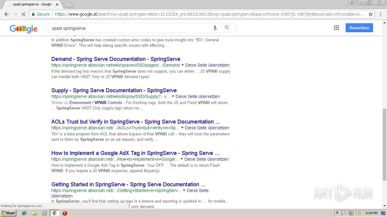 http://vpaid springserve net | ANY RUN - Free Malware
