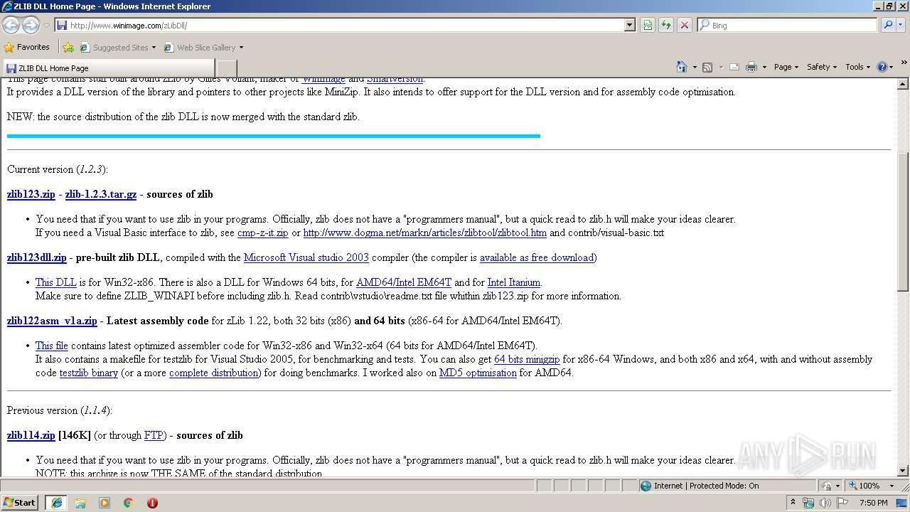 http://www winimage com/zLibDll | ANY RUN - Free Malware