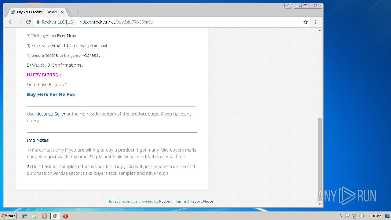 http://goo gl/oR2YLC | ANY RUN - Free Malware Sandbox Online