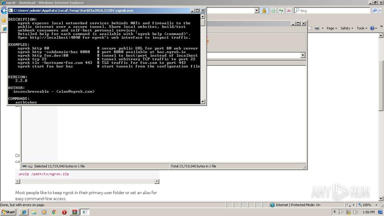 https://ngrok com | ANY RUN - Free Malware Sandbox Online
