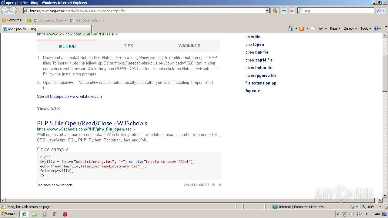 Screenshot of unknown taken from 62009 ms from task started