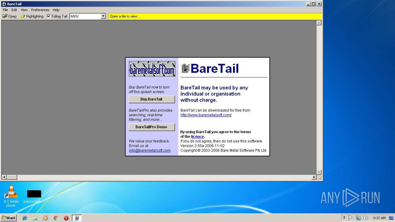 Highlighting Baretail Bear Tail Log Viewer