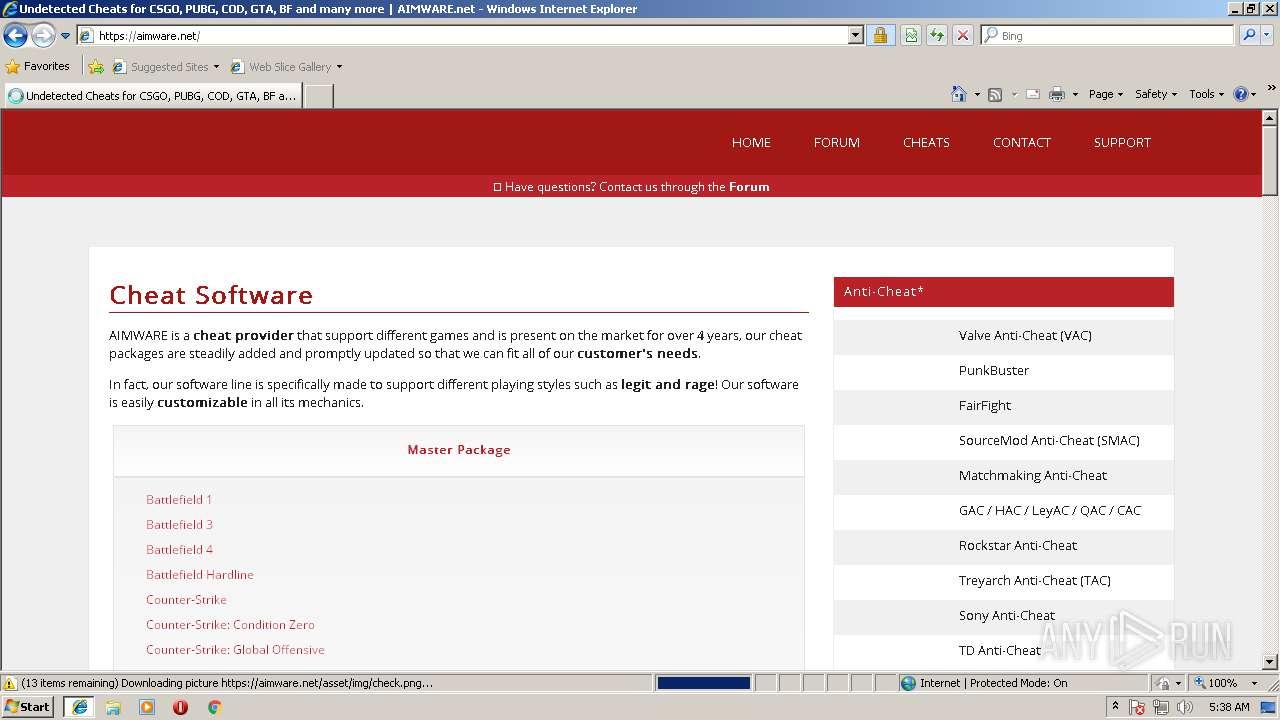 Http Www Aimware Net Any Run Free Malware Sandbox Online