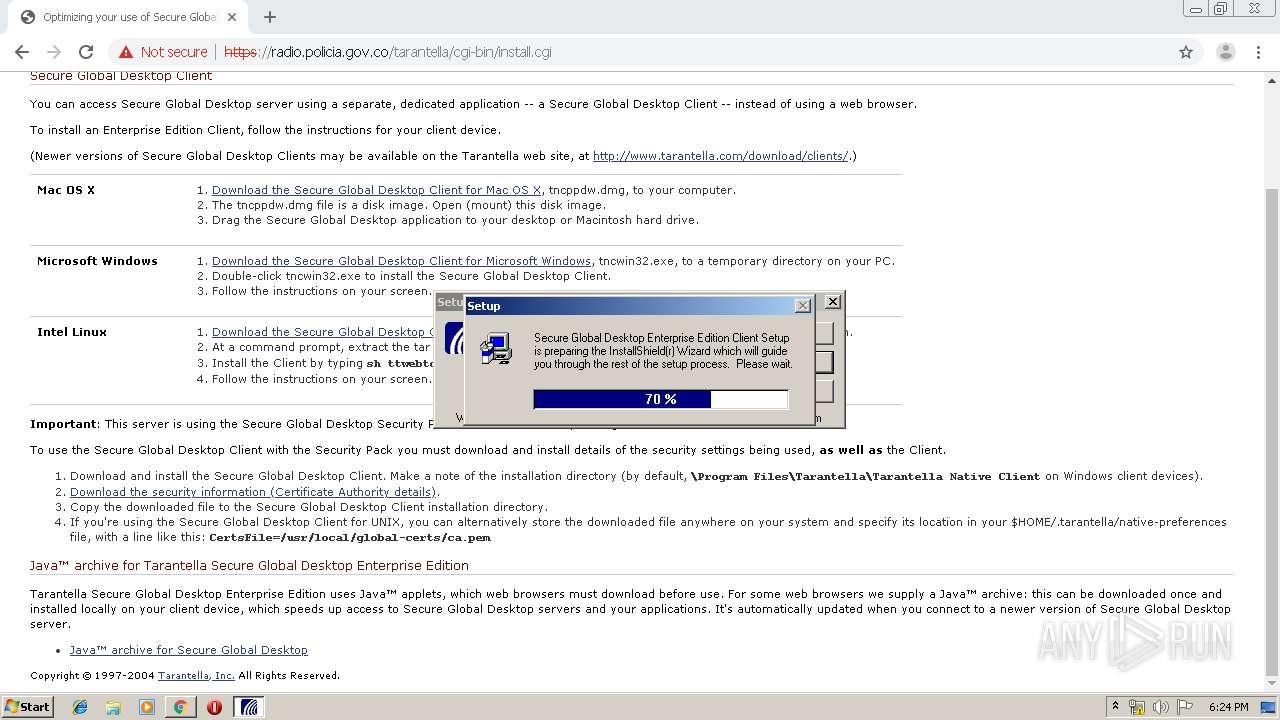 http://radio.policia.gov.co | ANY.RUN - Free Malware Sandbox Online