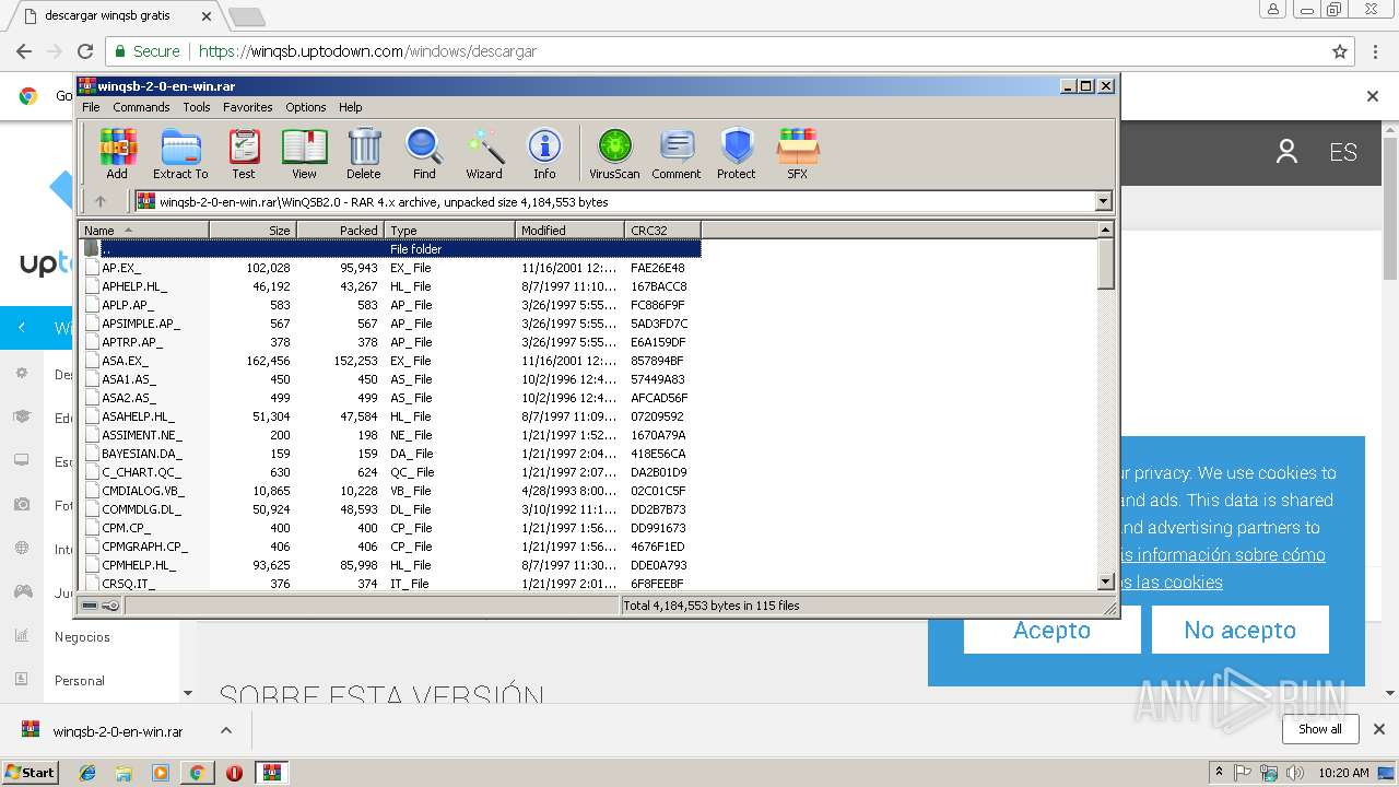 descargar winrar para windows 7 uptodown