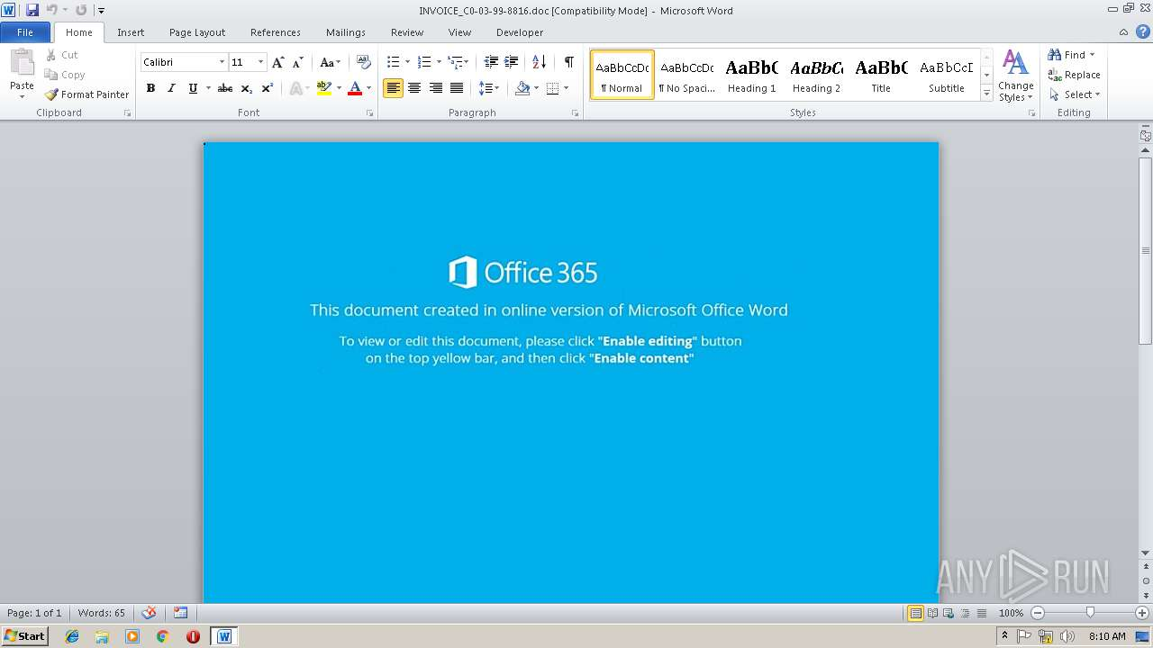 Screenshot of f5157bb10f4869655706640c47f5dedd2a97a8ffd49284fff261427521f66beb taken from 161601 ms from task started