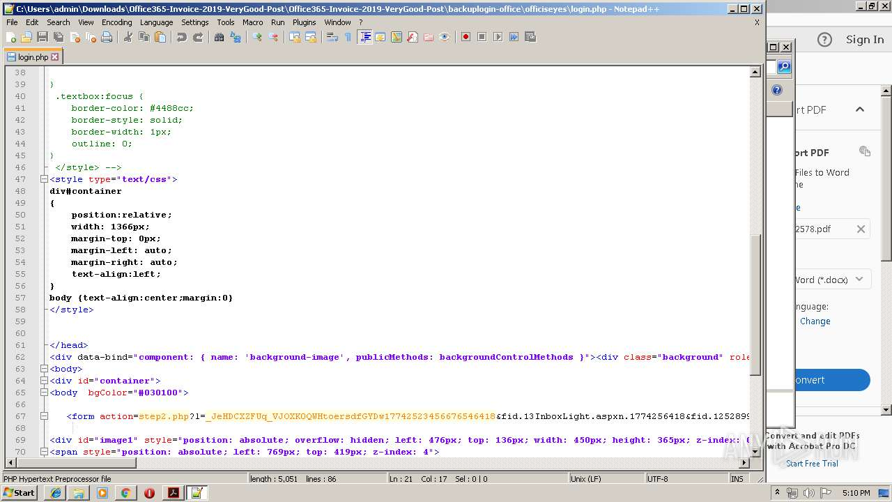 Screenshot of 31f0bf0454dd2cdf4ead5ff24f2103f47c18bf7c5b8bd565d0d9bb5dfc045b3a taken from 177905 ms from task started