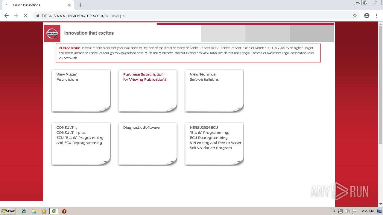 http://www nissan-techinfo com - Interactive analysis - ANY RUN
