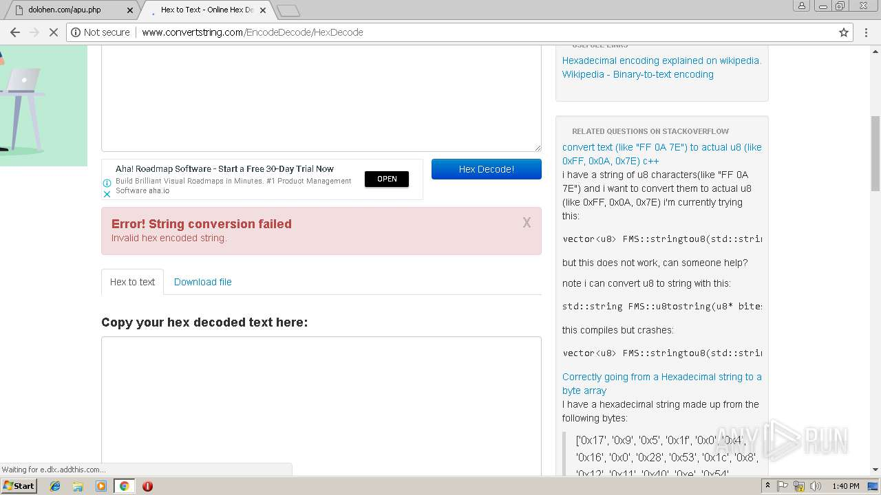http://dolohen com/apu php?zoneid=2453518 | ANY RUN - Free Malware