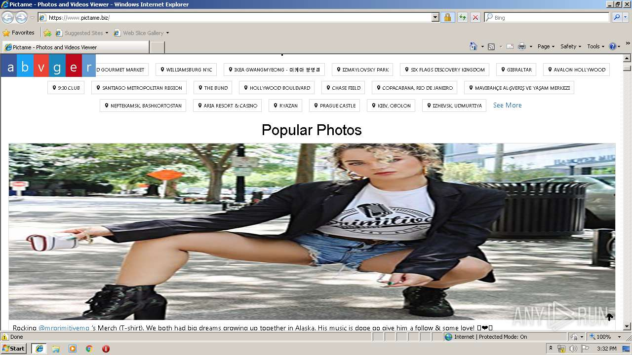 http://pictame biz | ANY RUN - Free Malware Sandbox Online