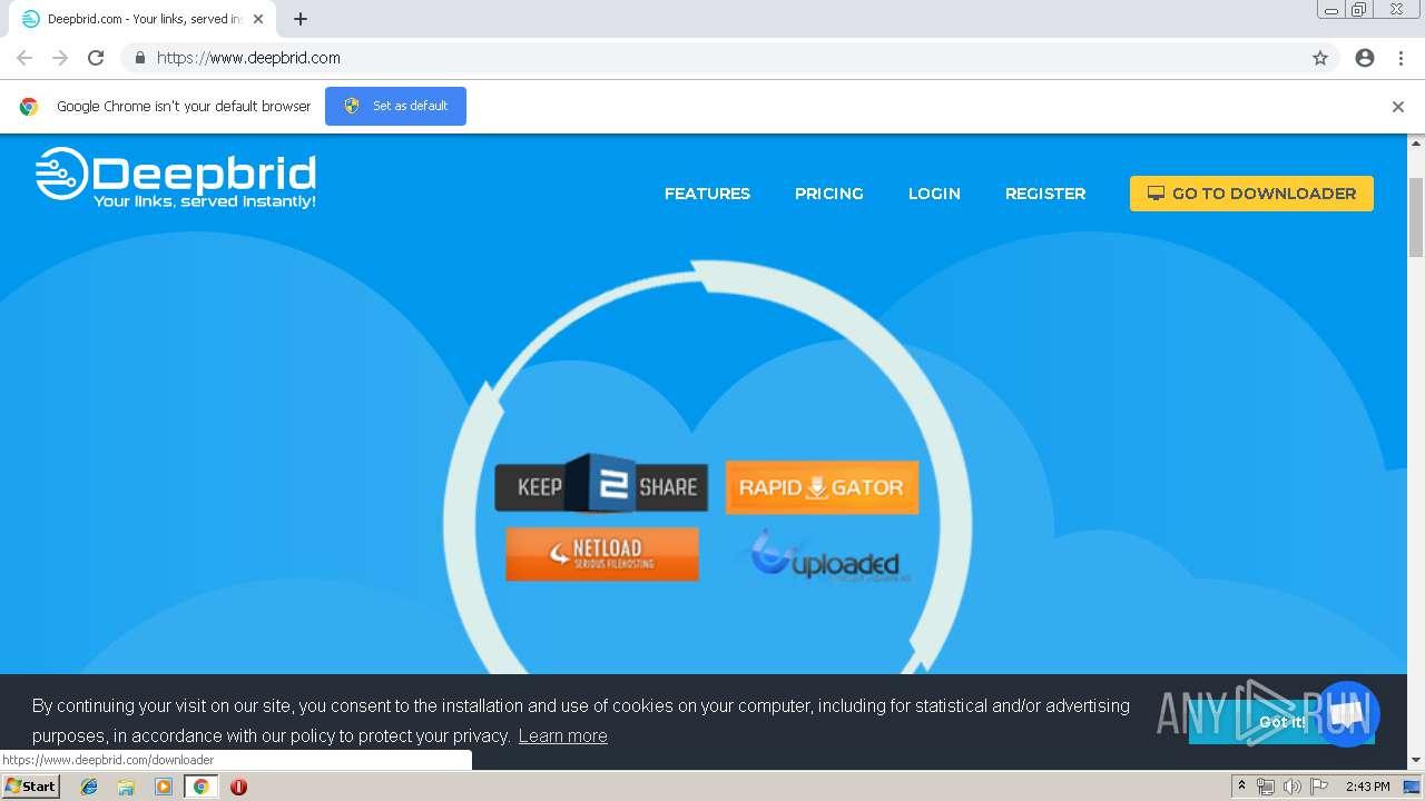 http://www deepbrid com   ANY RUN - Free Malware Sandbox Online