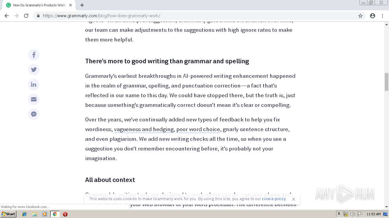 https://www grammarly com/blog/how-does-grammarly-work/   ANY RUN
