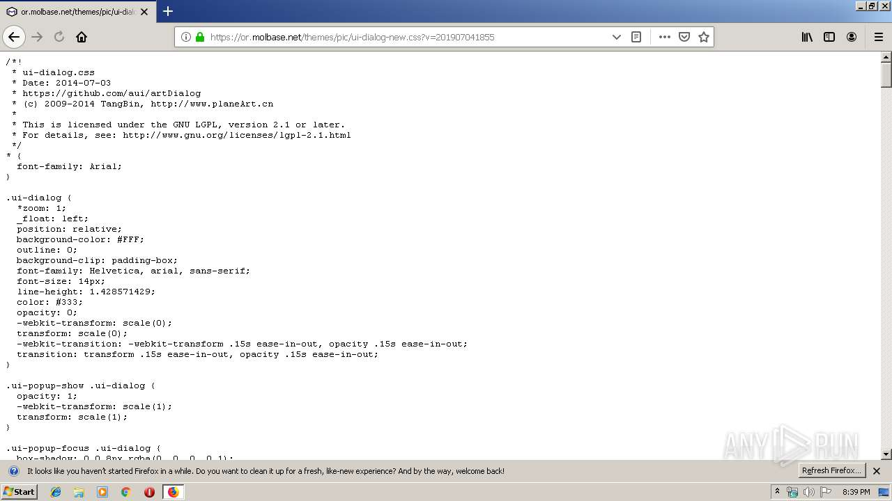 Screenshot of 7f66394702176e7ec2903efbae194dd7736dd019bcad8a34067968a85365aaa4 taken from 58039 ms from task started