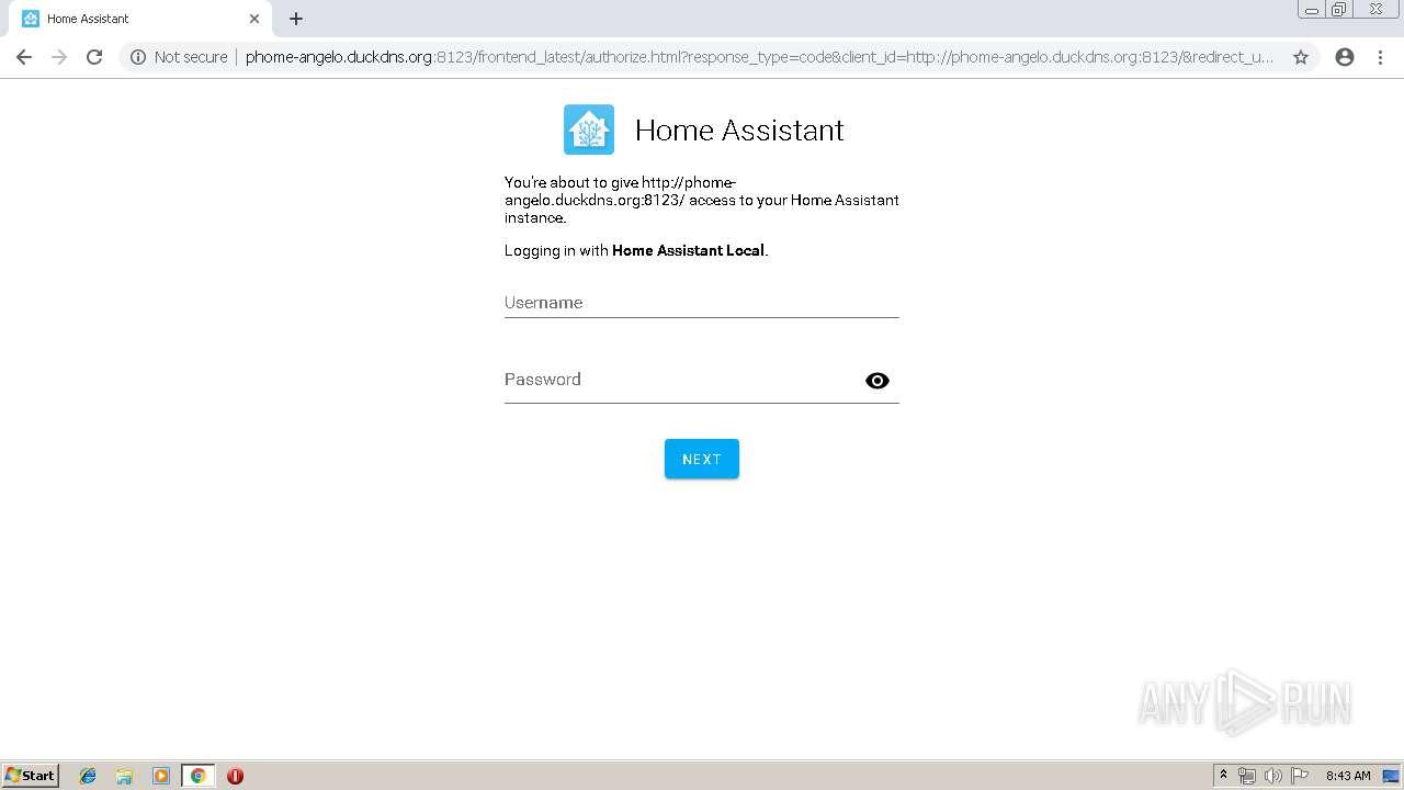 http://p-home duckdns org:8123 | ANY RUN - Free Malware Sandbox Online