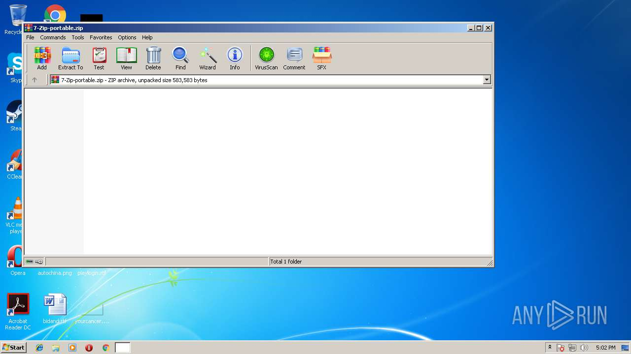 7 zip portable command line