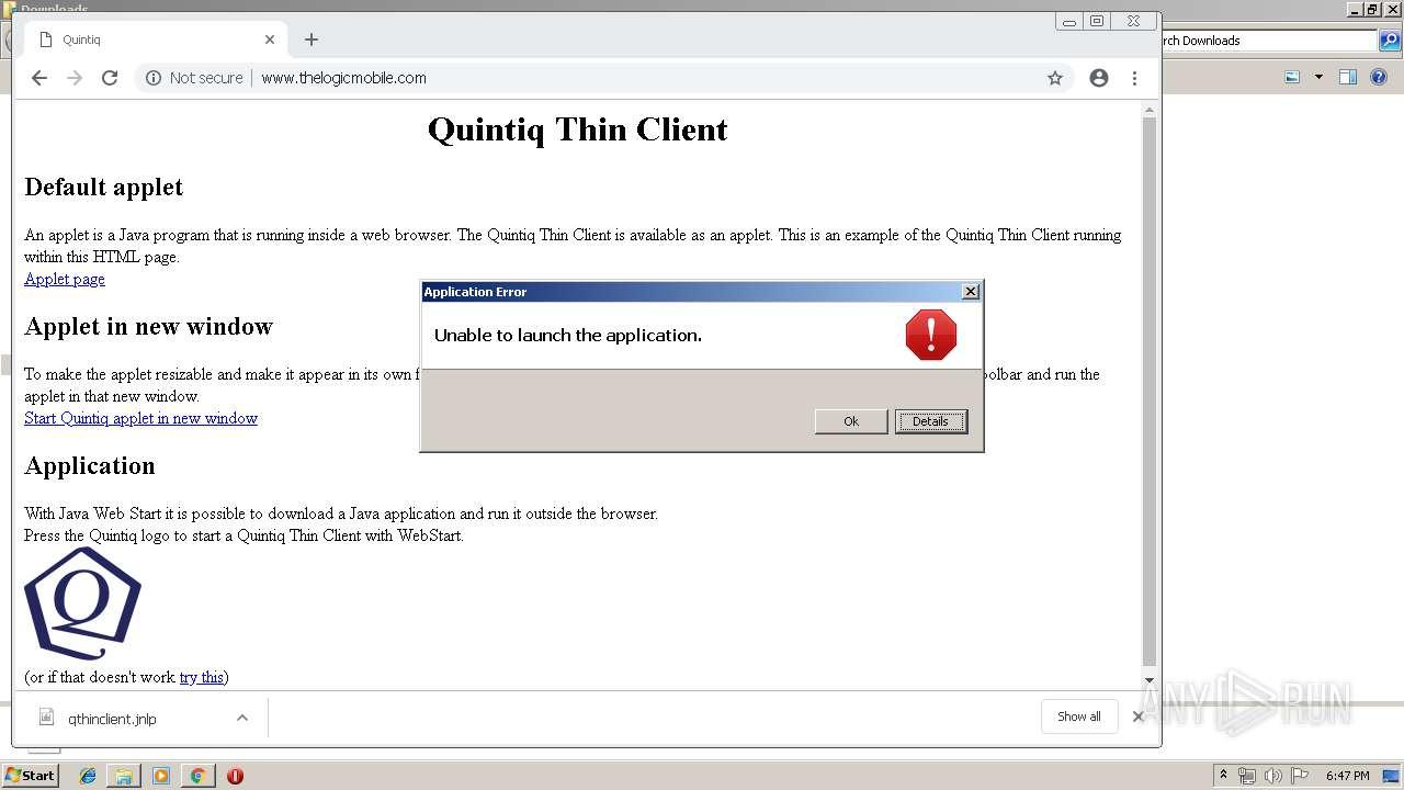 Jnlp Download Instead Of Running