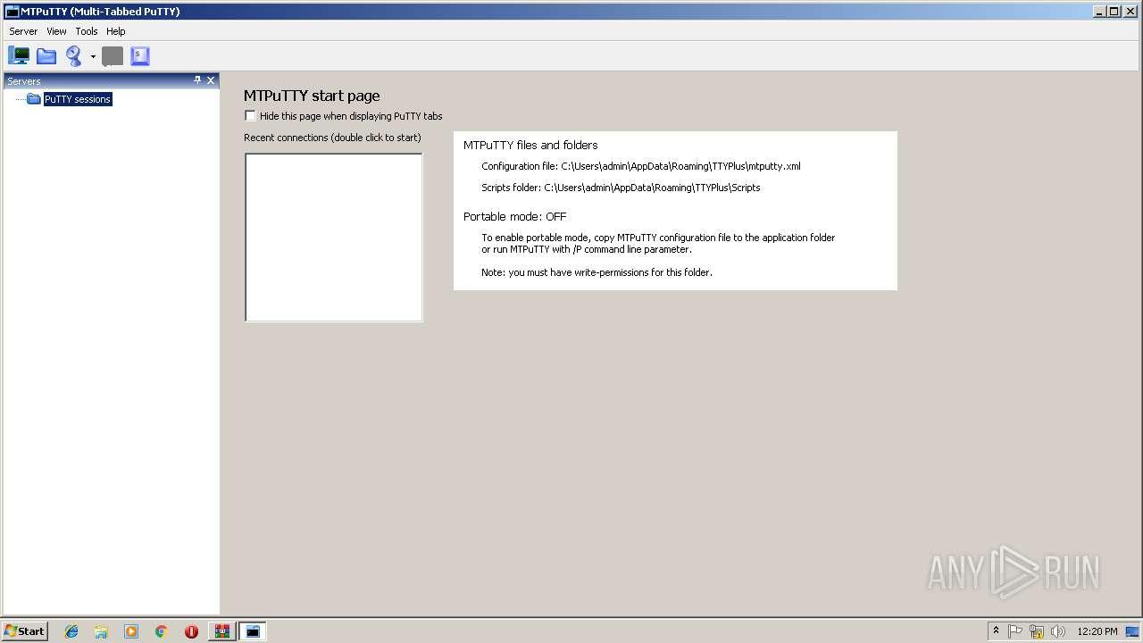 http://ttyplus com/download/mtputty zip | ANY RUN - Free Malware