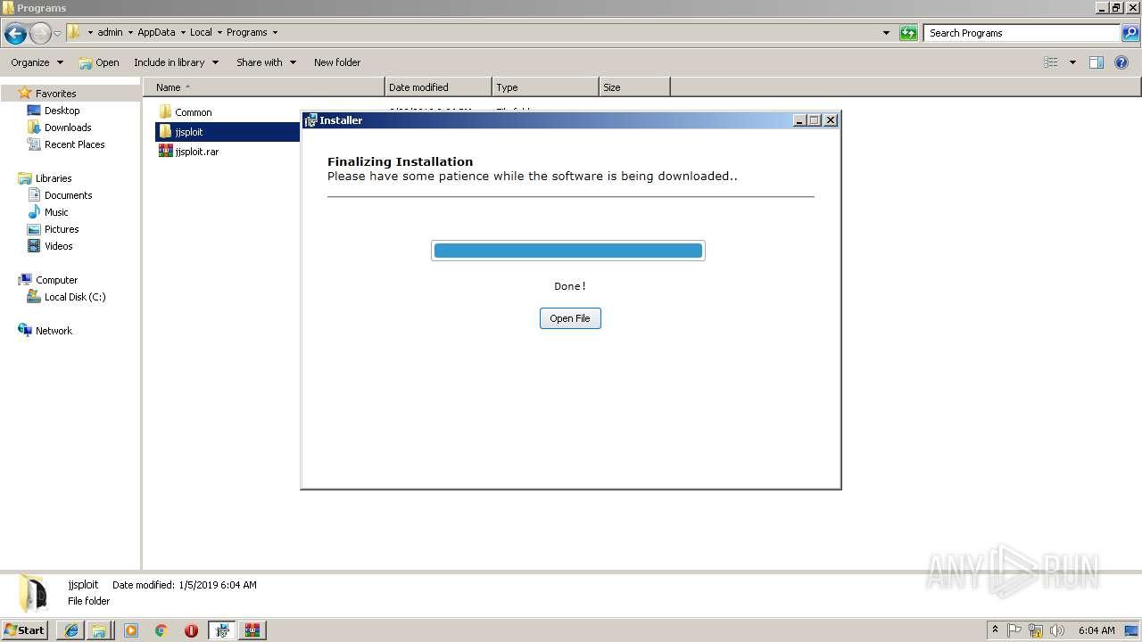 https://wearedevs net/d/JJSploit%20v4 | ANY RUN - Free Malware