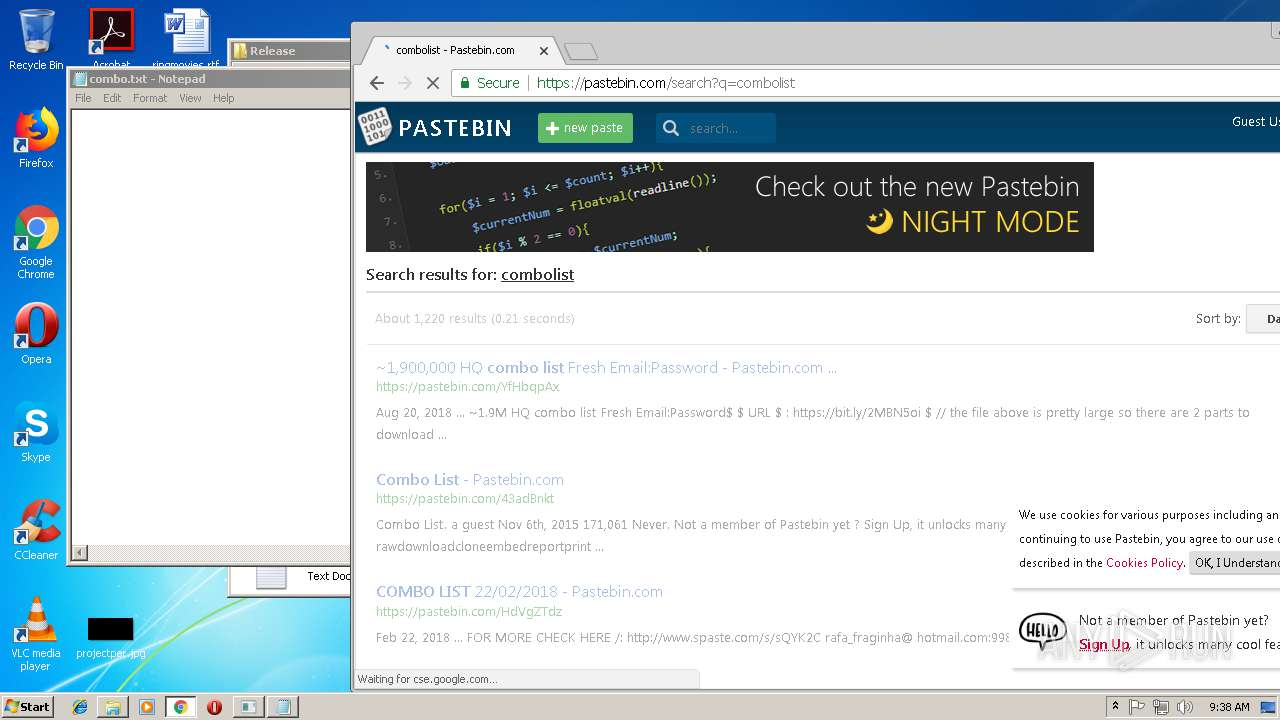 Pastebin user pass combos
