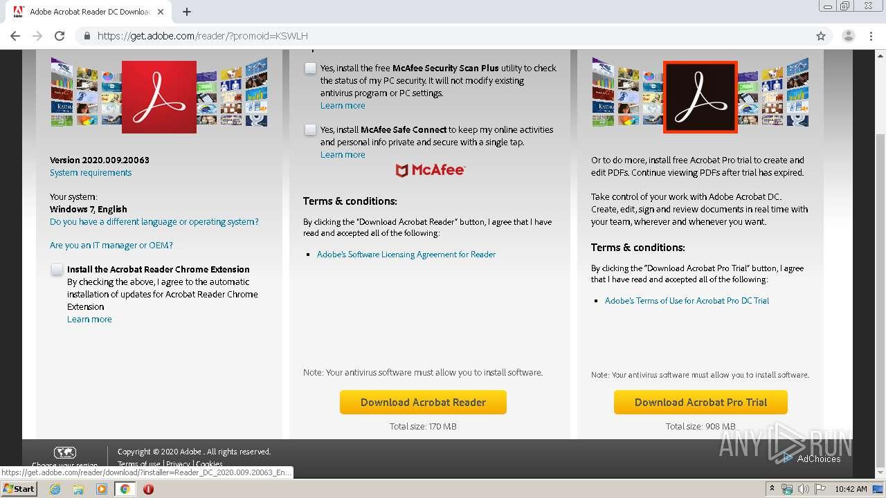 http://get.adobe.com | ANY.RUN - Free Malware Sandbox Online