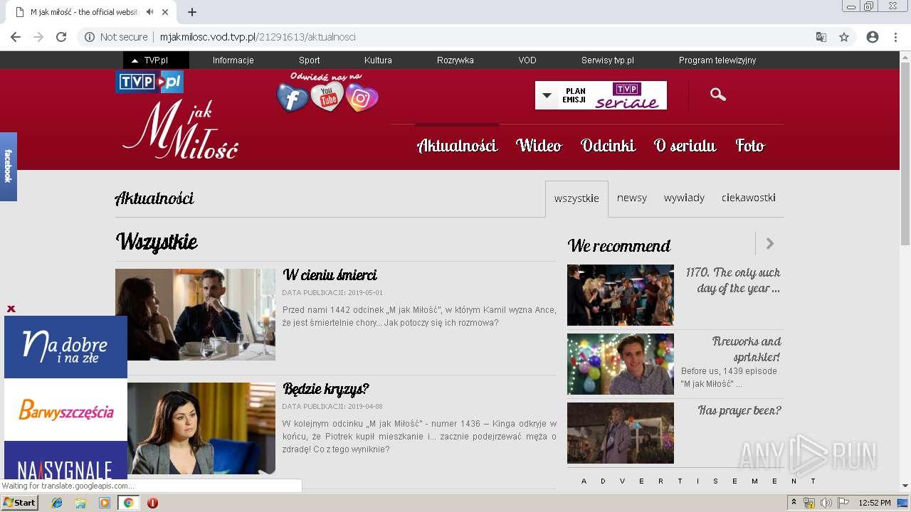 http://mjakmilosc vod tvp pl/30435168/odcinki | ANY RUN
