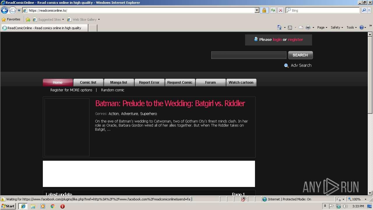 http://readcomiconline to | ANY RUN - Free Malware Sandbox
