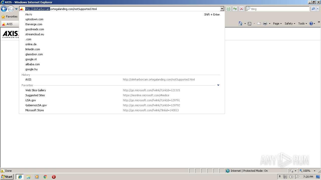 http://olmharborcam ortegalanding com/   ANY RUN - Free Malware