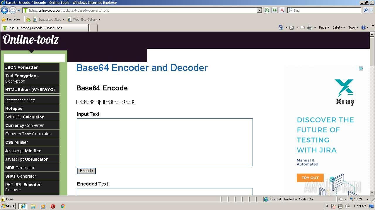 http://online-toolz com | ANY RUN - Free Malware Sandbox Online