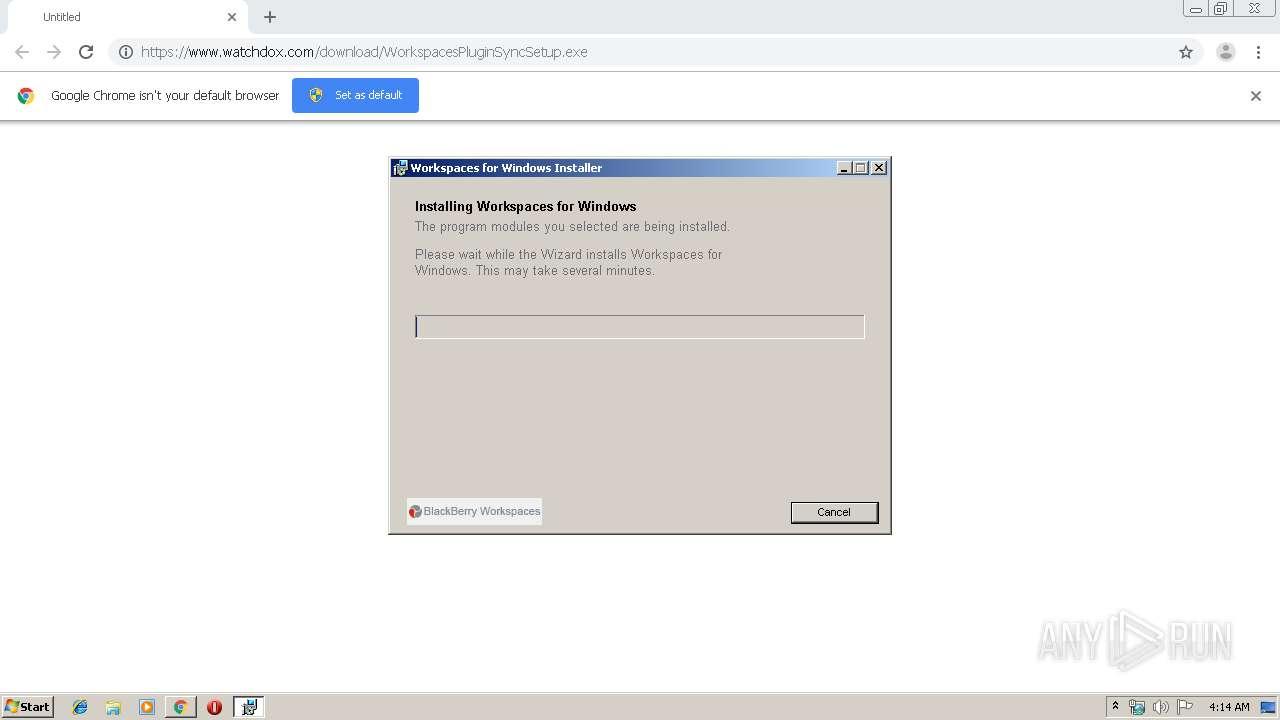 https://www.watchdox.com/download/WorkspacesPluginSyncSetup.exe   ANY.RUN -  Free Malware Sandbox Online