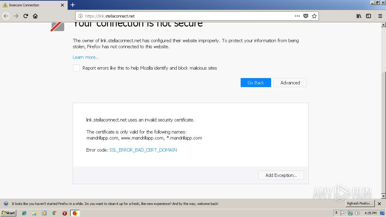http://link stellaconnect net/   ANY RUN - Free Malware