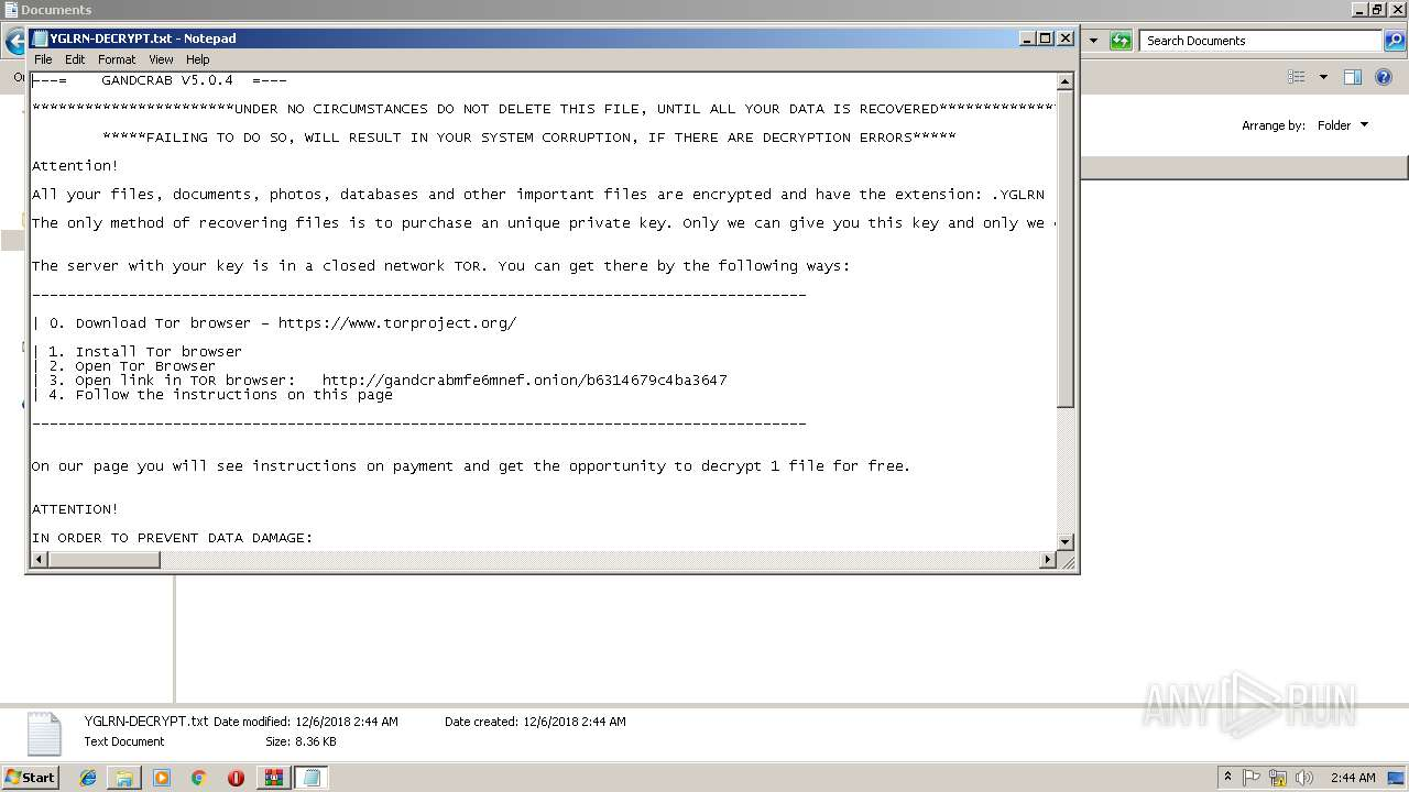 Screenshot of 500aa7d4af5c2792d5c5b6ee4dba12b7fbacc48f8f6d19b8b725813f034cda34 taken from 131994 ms from task started