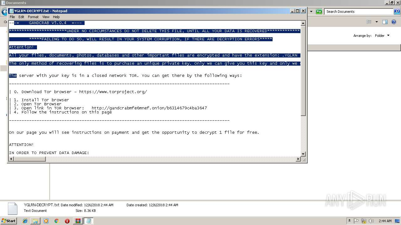 Screenshot of 500aa7d4af5c2792d5c5b6ee4dba12b7fbacc48f8f6d19b8b725813f034cda34 taken from 140052 ms from task started