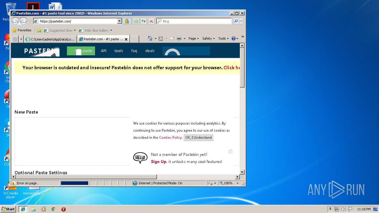 Screenshot of 56caecde0634dce506b72ada2c03479cf2ea956e71474695ac20c6e5569e08ea taken from 36457 ms from task started