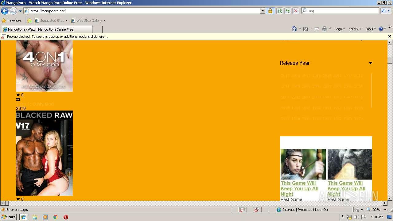 https://mangoporn net/ | ANY RUN - Free Malware Sandbox Online