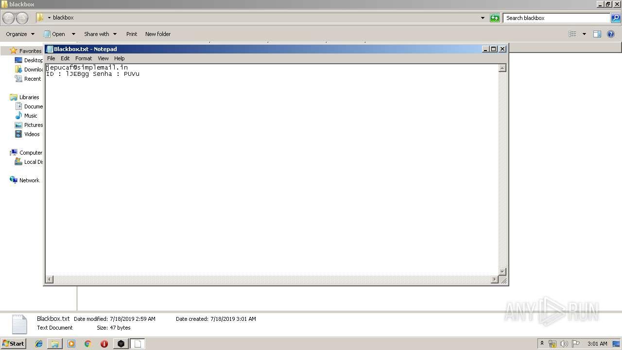 Screenshot of cfb1b2e554a5a65d71bffca9b0ea5d1a9e73d2c7ade3937a8f5a912b6f13c4f6 taken from 47159 ms from task started