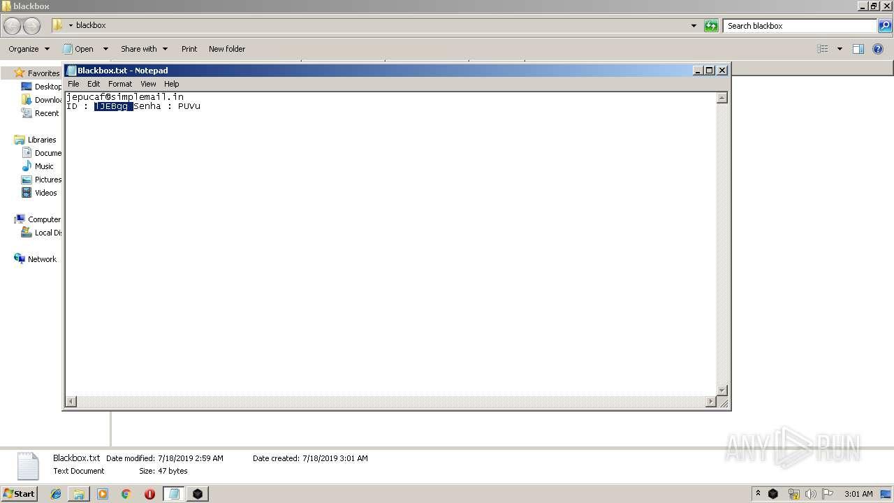 Screenshot of cfb1b2e554a5a65d71bffca9b0ea5d1a9e73d2c7ade3937a8f5a912b6f13c4f6 taken from 61255 ms from task started