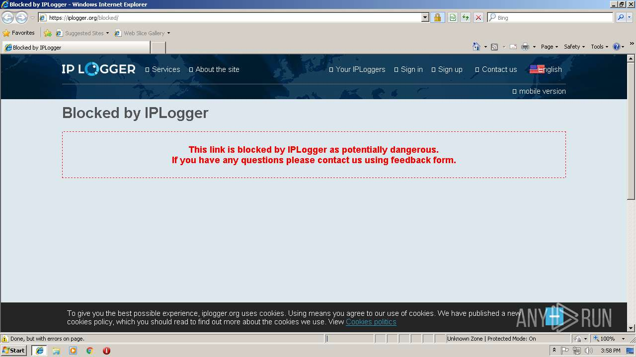 https://iplogger com/1YkR97   ANY RUN - Free Malware Sandbox Online