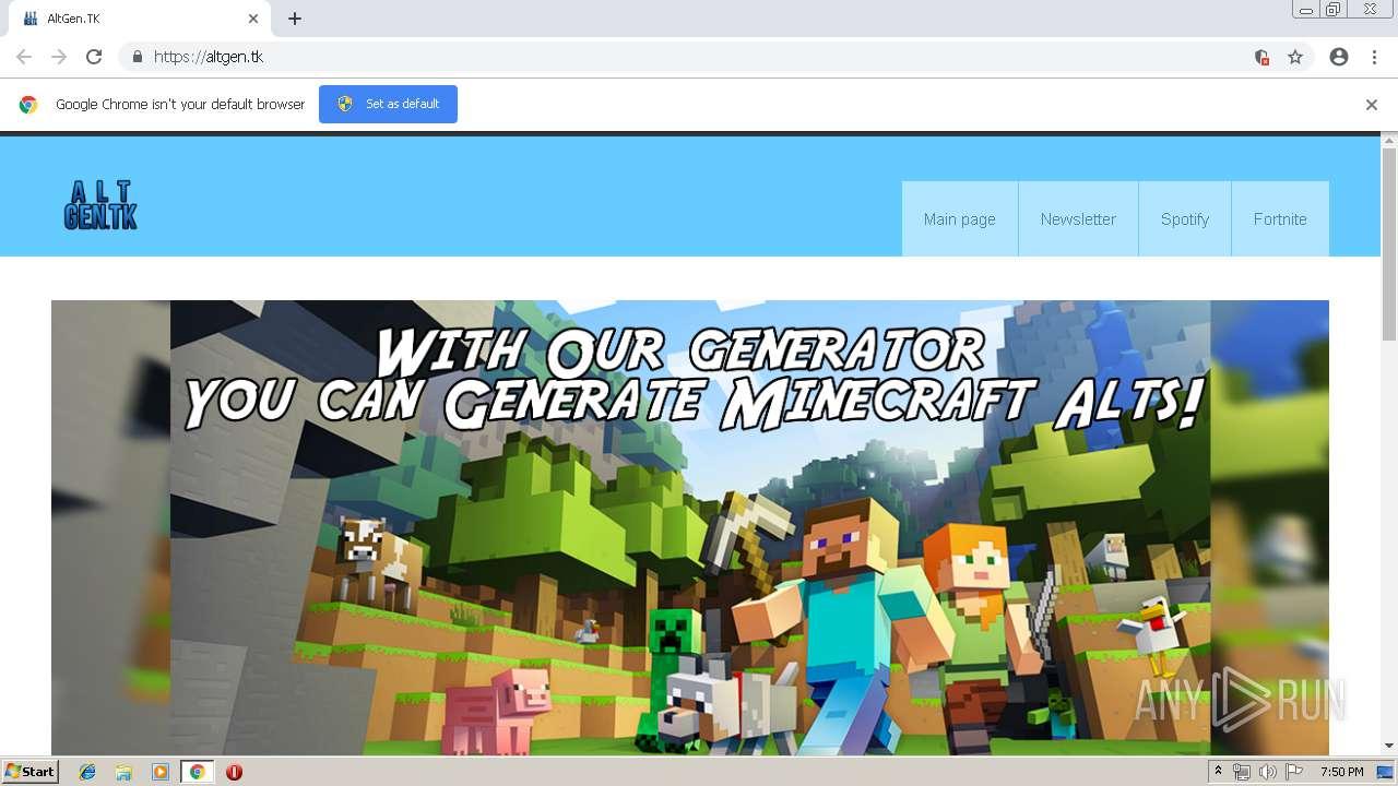screenshot of unknown taken from 22738 ms from task started - altgen tk fortnite