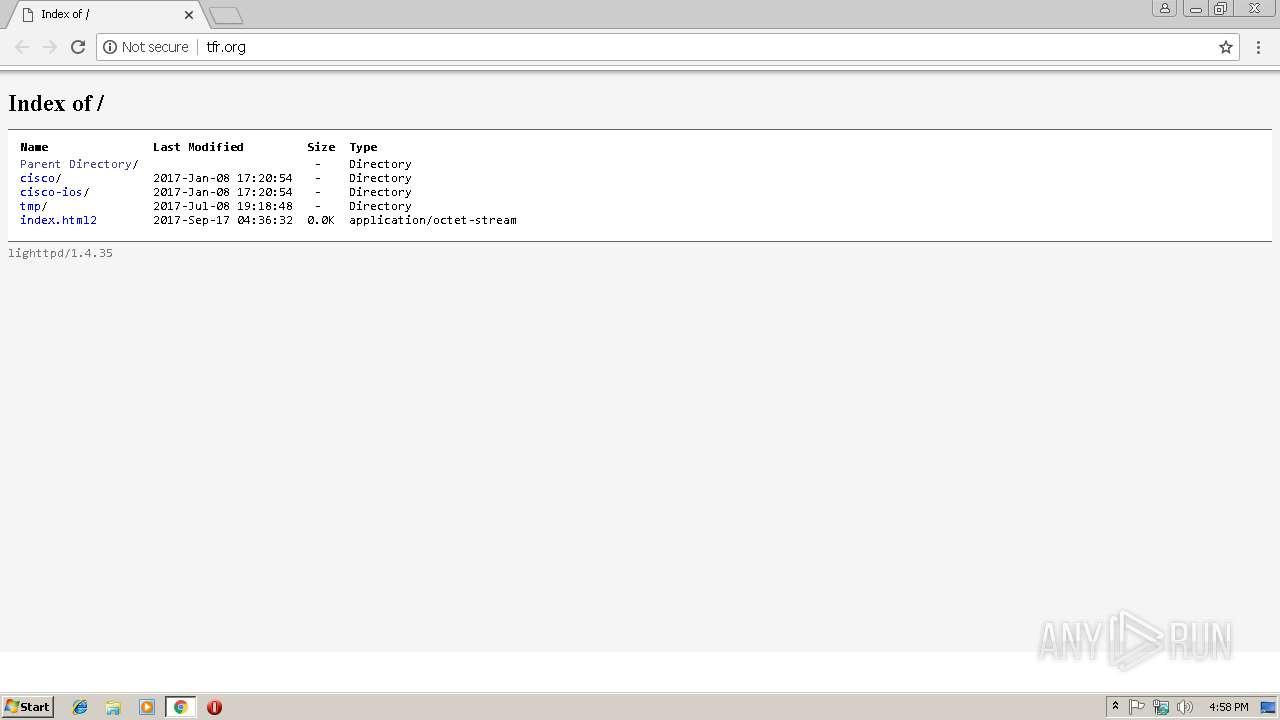 http://tfr org/ | ANY RUN - Free Malware Sandbox Online
